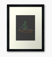 Cactus wire frame graphic Framed Print