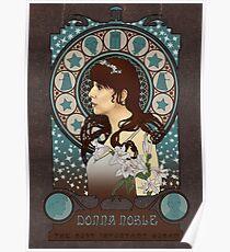 Donna Noble art nouveau Poster