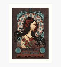 Clara Oswald art nouveau Art Print
