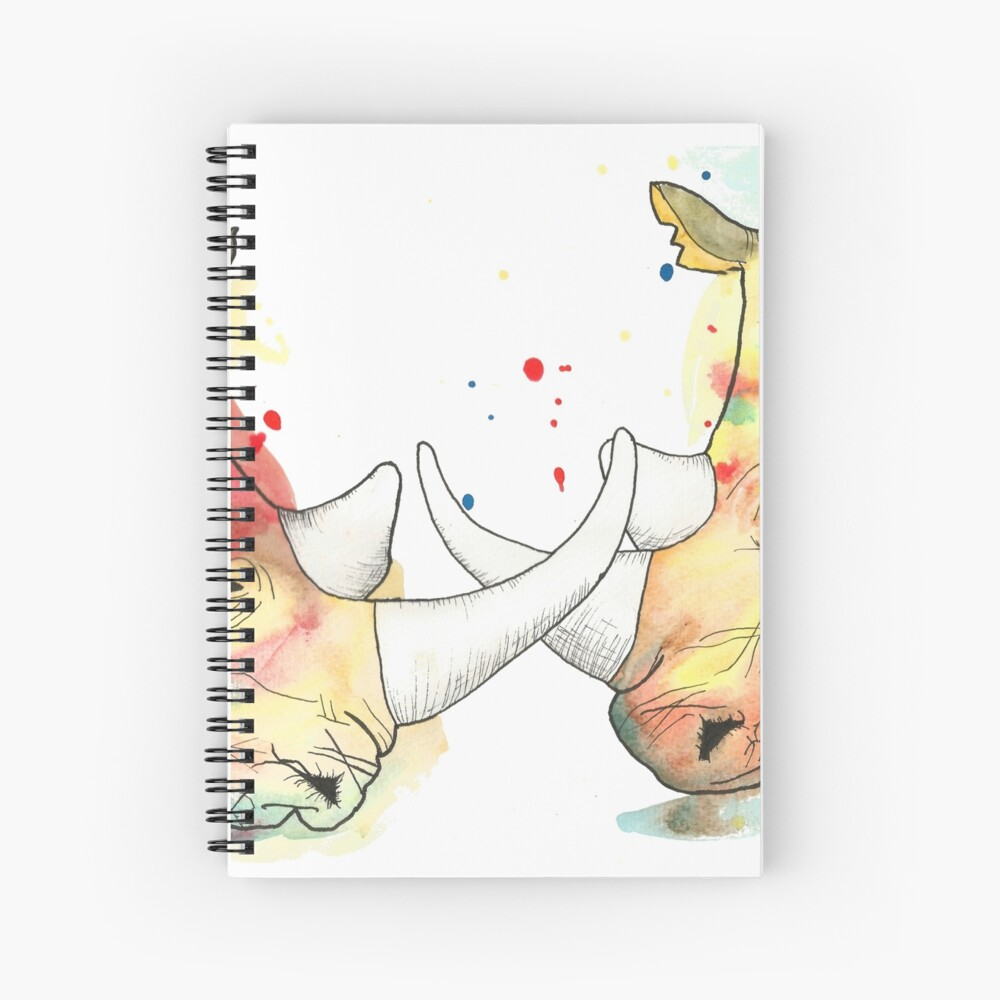 Rhino Watercolour Spiral Notebook