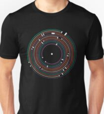 Cool colored vinyl record metro map dj music art Unisex T-Shirt