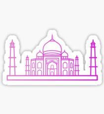 Flat Icon - Taj Mahal Gradient Sticker