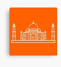 Flat Icon - Taj Mahal Gradient Canvas Print