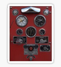 Vintage Fire Truck Gauges Sticker