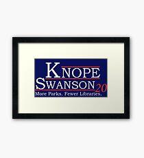 Knope Swanson 2020 Framed Print