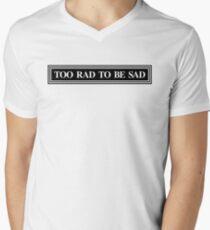 Zu Rad, um traurig zu sein T-Shirt mit V-Ausschnitt