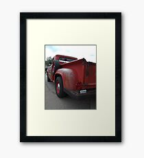 Vintage Fire Chief Truck Framed Print