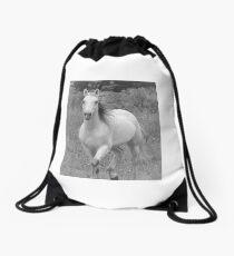 Stephanies Storm in Black & White Drawstring Bag
