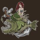 Mermaid And Angler Fish Color by ZugArt