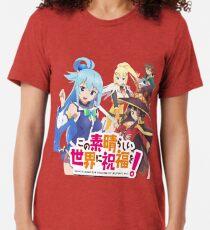 Camiseta de tejido mixto Konosuba, Kono Subarashi Sekai Ni Syukufuku Woi !!!