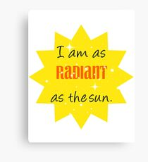 As Radiant as the Sun Canvas Print