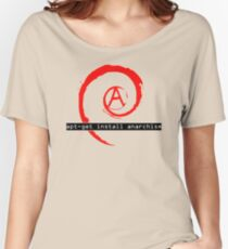 apt-get install anarchism  Women's Relaxed Fit T-Shirt