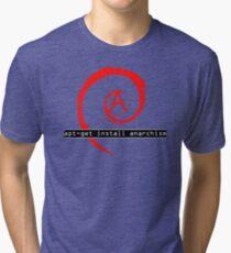 apt-get install anarchism  Tri-blend T-Shirt