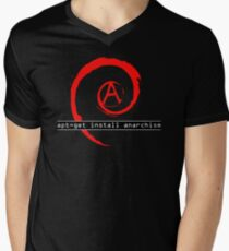 apt-get install anarchism  Men's V-Neck T-Shirt
