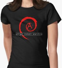 apt-get install anarchism  Women's Fitted T-Shirt