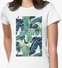Banana Leaves Womens Fitted T-Shirt