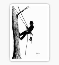 Arborist tree surgeon using chainsaw Sticker