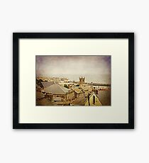 Rooftops of St Ives Framed Print