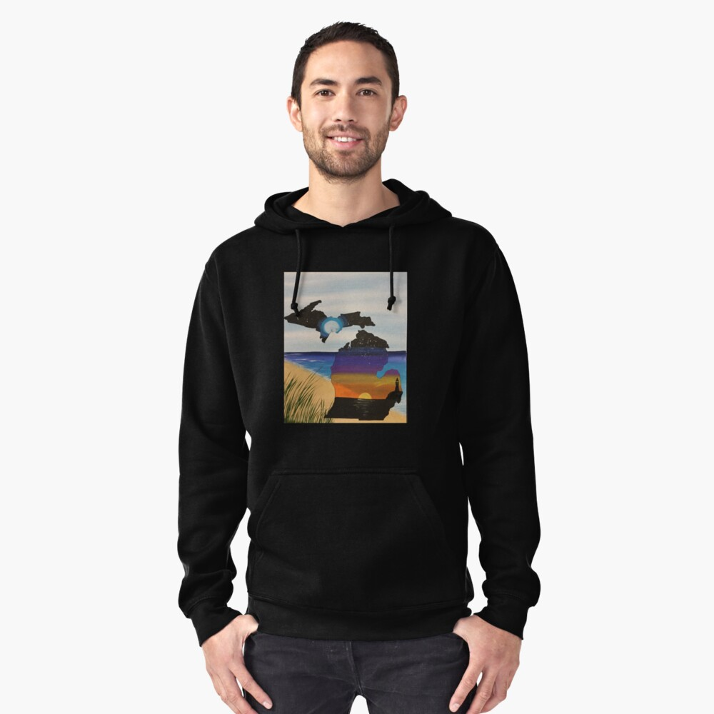 Michigan Pullover Hoodie Front