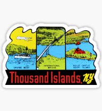 Thousand Islands New York Vintage Travel Decal Sticker