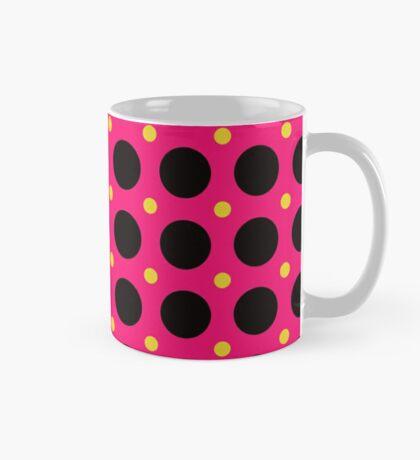 Pink and Black Polka  Dots  by Julie Everhart Mug