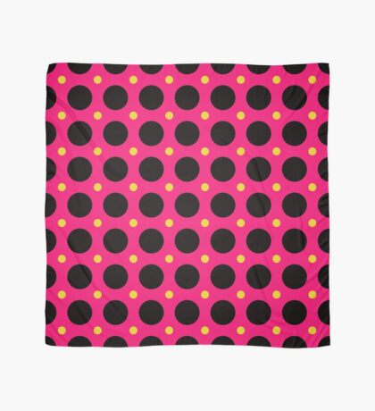 Pink and Black Polka  Dots  by Julie Everhart Scarf