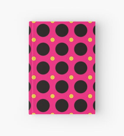 Pink and Black Polka  Dots  by Julie Everhart Hardcover Journal