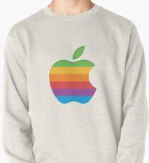 Old Style Rainbow Apple Logo Pullover