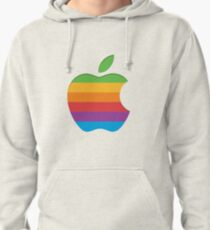 Old Style Rainbow Apple Logo Pullover Hoodie