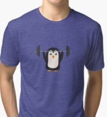 Penguin Weightlifting Tri-blend T-Shirt