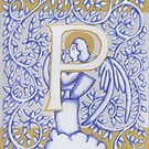 Angel Letter P Silver 2017 by Donna Huntriss