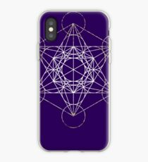Metatron's Cube [Tight Cluster Galaxy] | Sacred Geometry iPhone Case