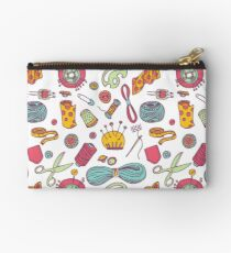 Sewing and needlework doodle pattern Studio Pouch