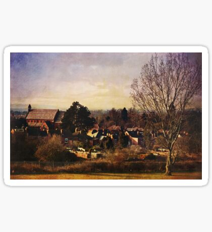 A view to St Barnabas (Worcester) Sticker