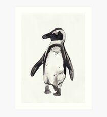Little Watercolour Penguin Art Print