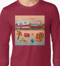 Family Vacation Time. Active Summer Holidays by Camper Long Sleeve T-Shirt