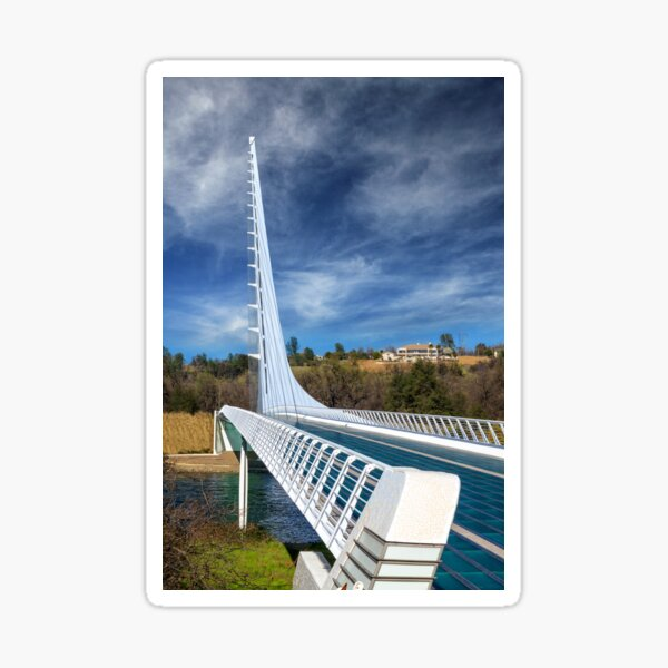 The Redding Sundial Bridge Sticker