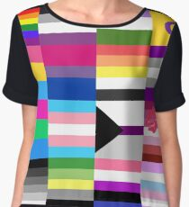 LGBT Pride Flags Collage Chiffon Top