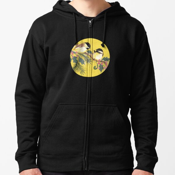 Chickadees from Amphai Zipped Hoodie