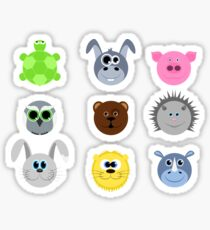 Collection of cute face animal Sticker