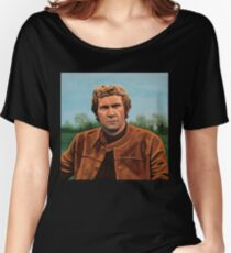 Steve McQueen Painting Women's Relaxed Fit T-Shirt