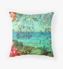 Bermuda and The Sea Venture Throw Pillow