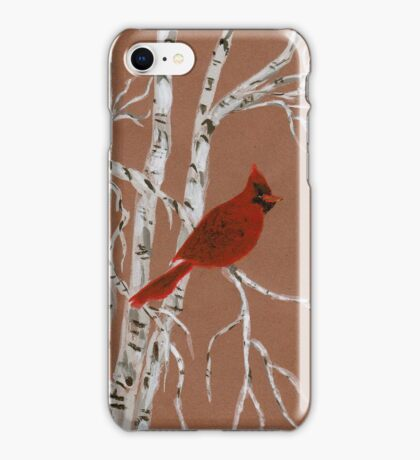 A Small Red Cardinal from Amphai iPhone Case/Skin
