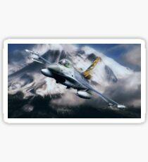 F16 Falcon Tiger Sticker