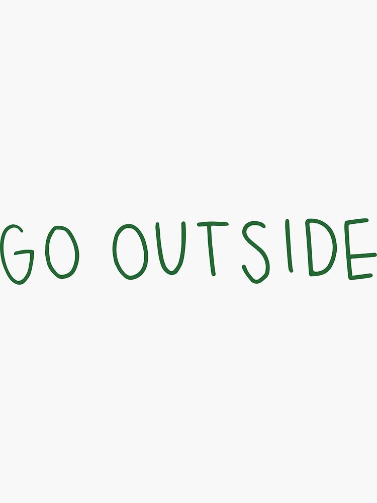 gehe nach draußen grün von cgidesign