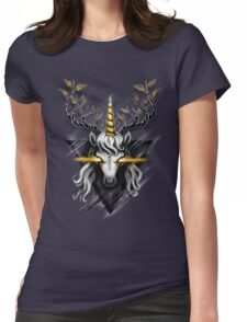 Deer Unicorn Womens Fitted T-Shirt