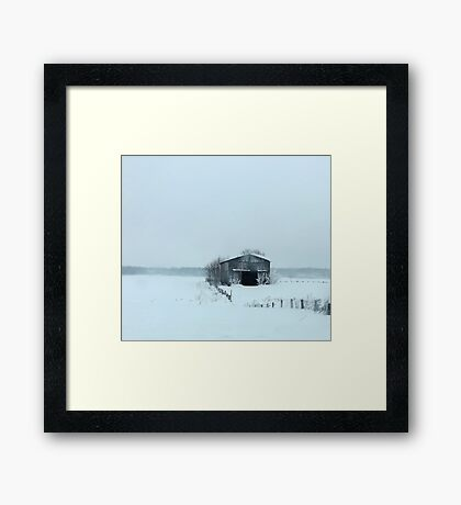 Blue Christmas Framed Print