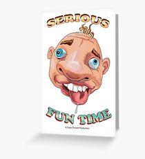 Wacky Face Design Greeting Card