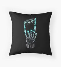 Electrifying Music Throw Pillow
