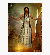 white buffalo calf woman   updated copy of orig Photographic Print
